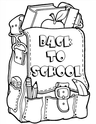 School bag coloring page coloring book for Bag coloring page