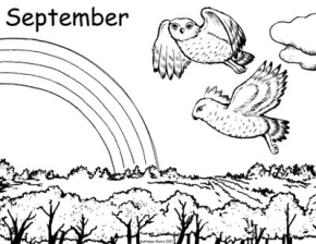 September Coloring Page & Coloring Book