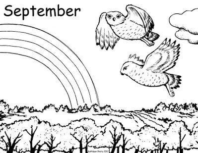 September Coloring Pages September Coloring Page & Coloring Book