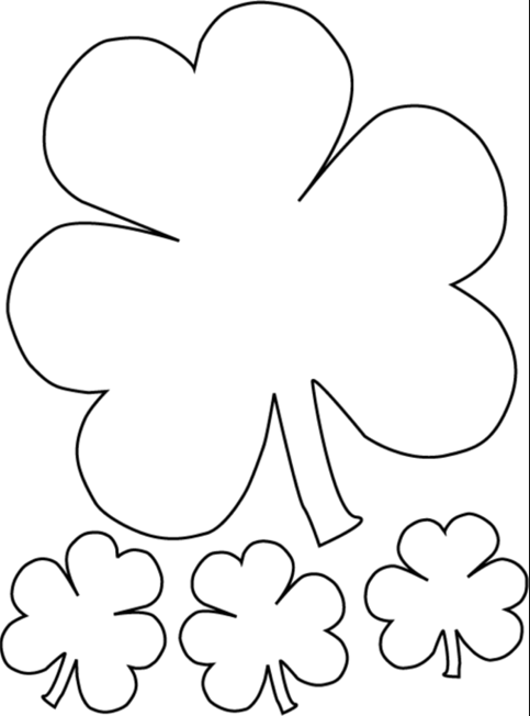 where can i print of cute shamrock coloring pages free ...