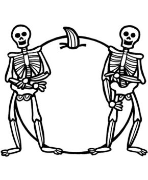 skeleton-coloring-page