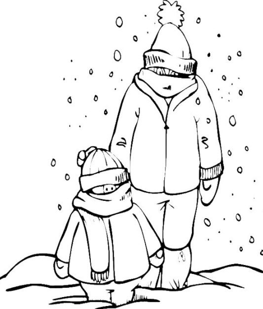 Snow Day Coloring Page Coloring Book