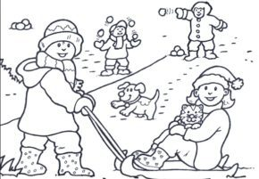 Winter adult snowflake coloring page snow day snow day for Snow day coloring pages