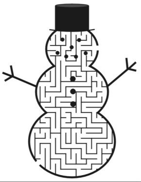 snowman maze morning maze coloring page - Maze Coloring Pages