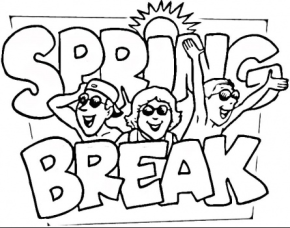 spring-break-coloring-page