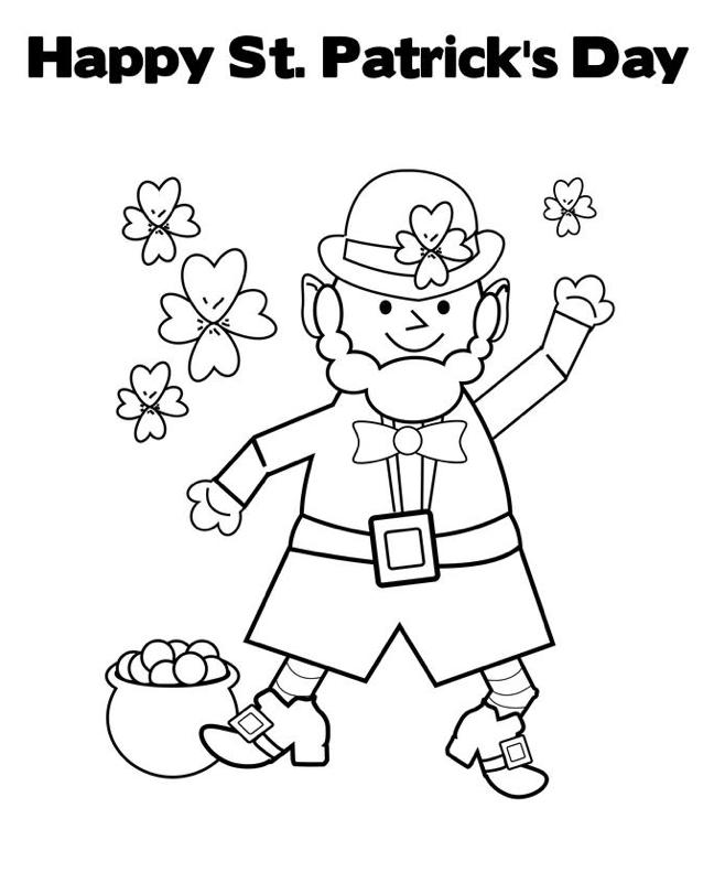 St Patrick\'s Day Coloring Sheet & Coloring Book
