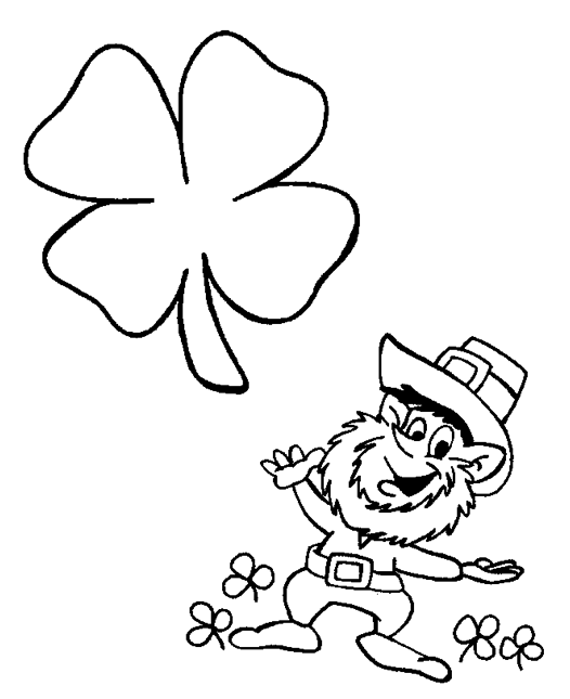 st patricks day leprechaun coloring page - St Patricks Day Pictures To Color 2