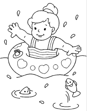 Summer Coloring Pages on people from the netherlands