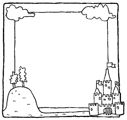 Summer Picture Frame Coloring Page & Coloring Book