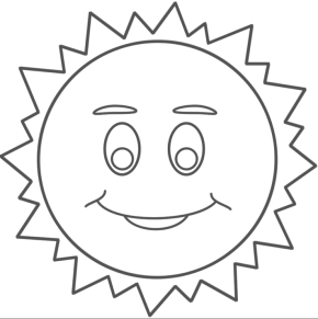sun coloring pages - Sun Coloring Page