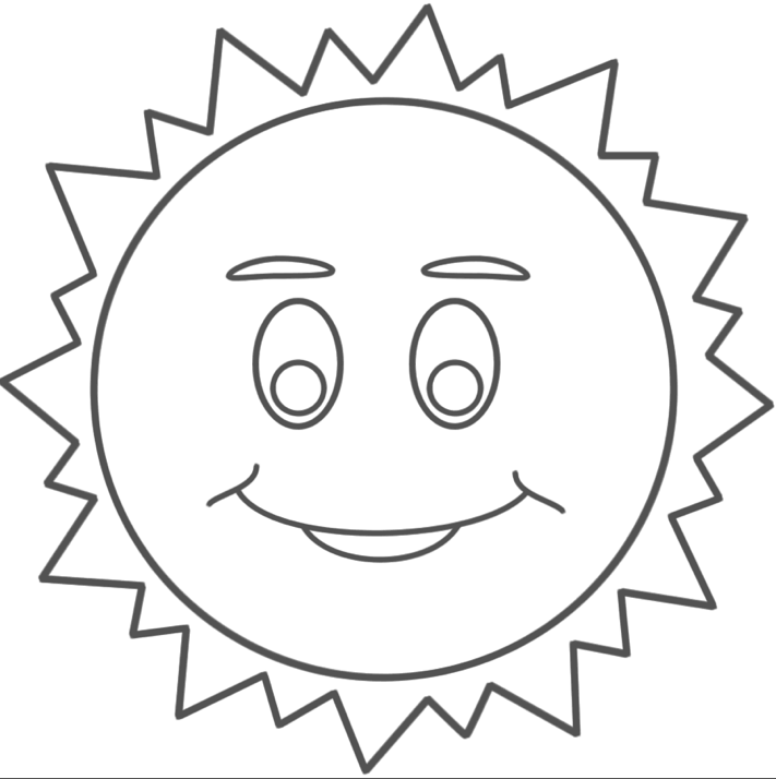 Sun Coloring Pages & Coloring Book