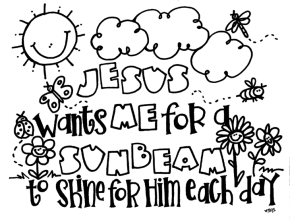 Bible Jesus Coloring Page Sunbeam Sermon On The