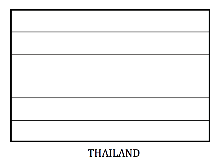Printable Thailand Flag Coloring Page