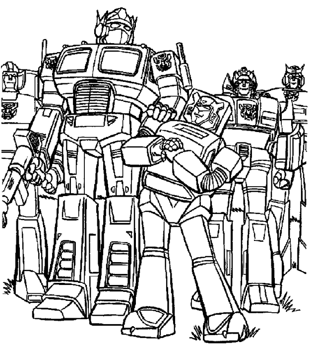 transformers coloring page - Transformers Coloring Pages