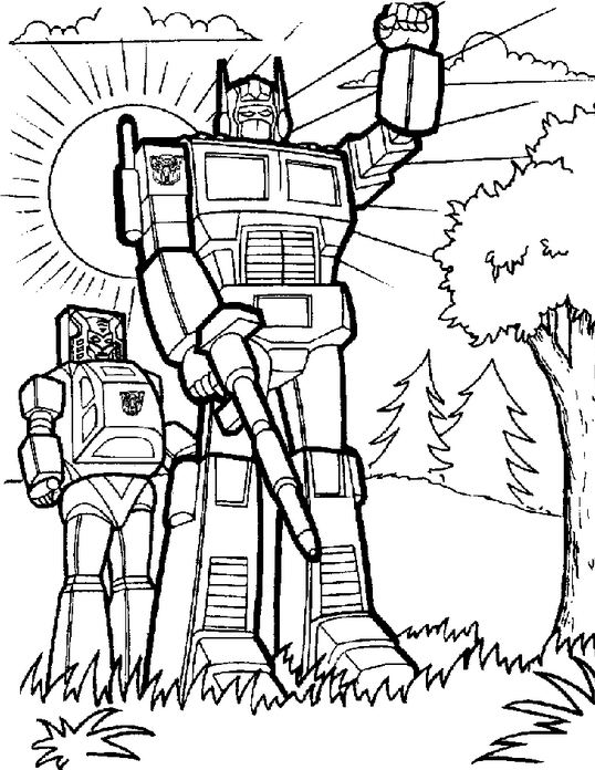 Transformers 5 Coloring Page Amp Coloring Book