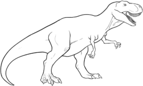 trex-coloring-page