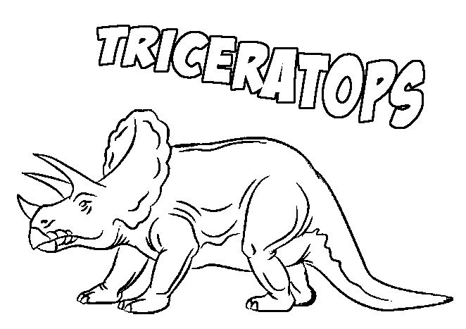 Triceratops Coloring Page & Coloring Book