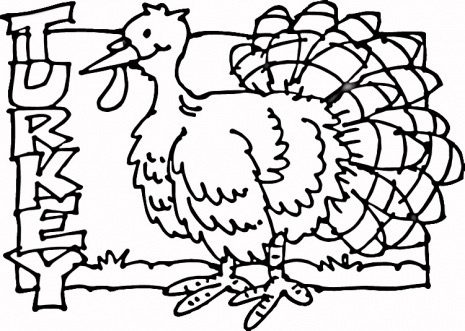Turkey Coloring Page & Coloring Book