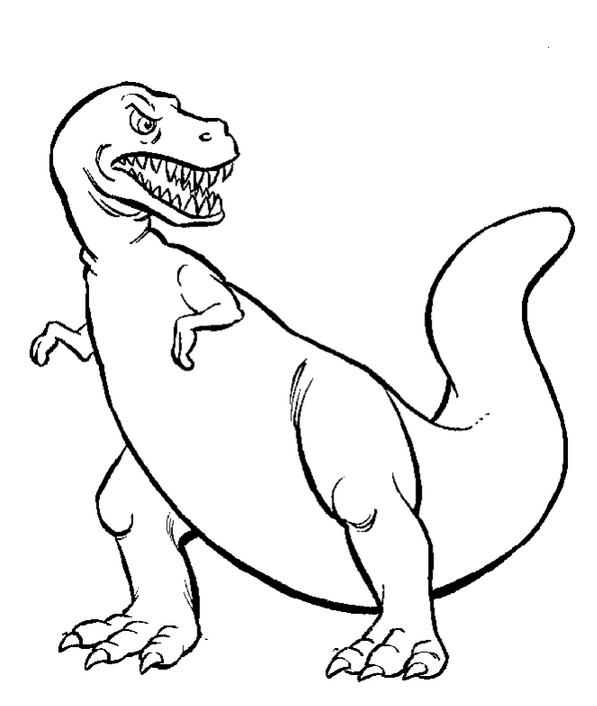 tyrannosaurus-coloring-page