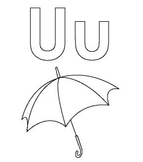 u-coloring-page