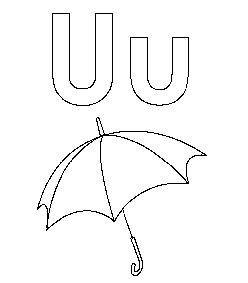 u coloring page advertisement