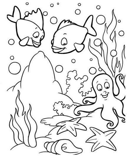 uner the sea coloring pages - photo#28