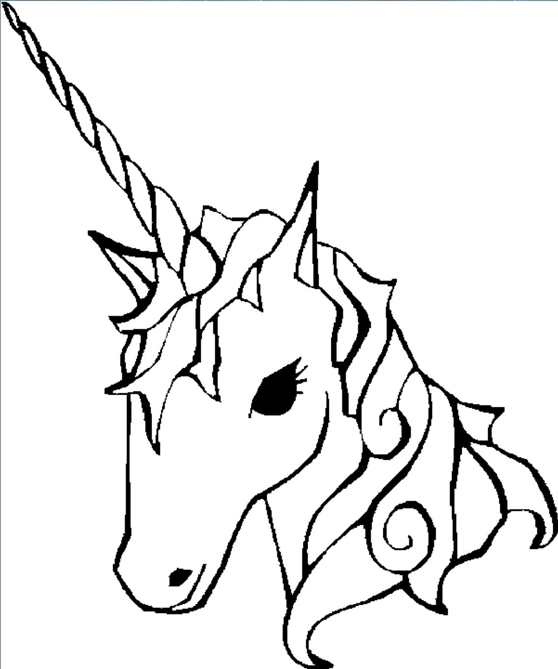 Charmant Unicorn Coloring Page