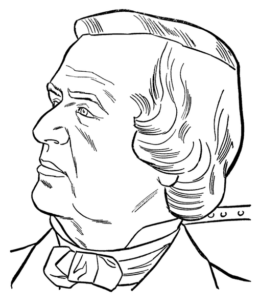 US President Andrew Johnson Coloring