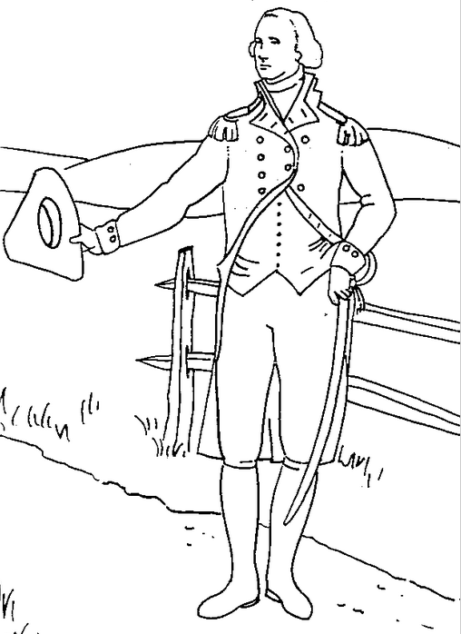 US President George Washington Coloring Page Coloring Book