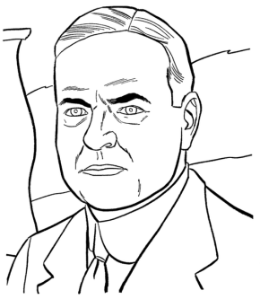 us-president-herbert-hoover-coloring-page