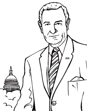 us president lyndon johnson coloring page