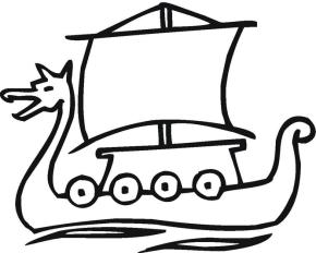 Boats : Viking Ship Coloring Page, Anchor Coloring Page, Ship ...