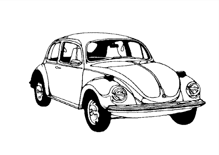 Bug Car Coloring Pages : Vw bug coloring page book