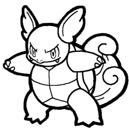 pokemon wartortle coloring pages - photo#7