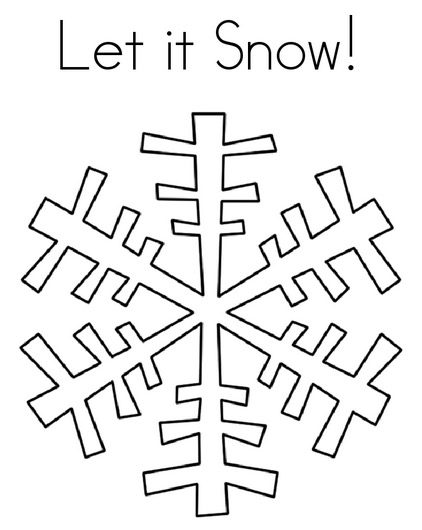 Winter Snowflake Coloring Page & Coloring Book