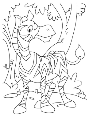 zebra-cartoon-coloring-page