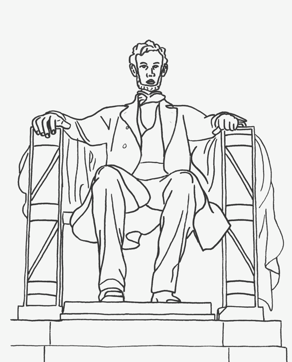 Abraham Lincoln Coloring Page Coloring Page Book For Kids