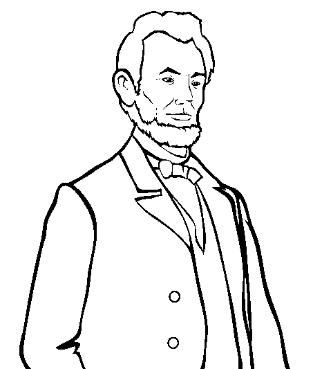 Abraham Lincoln Coloring Page 3 & Coloring Book