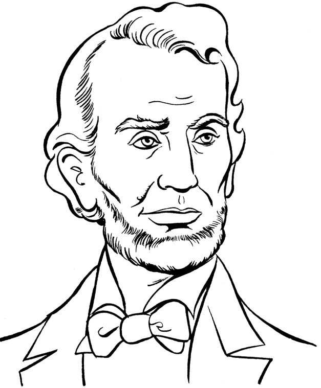 Abraham Lincoln Coloring Page 2 Coloring Page Book For Kids