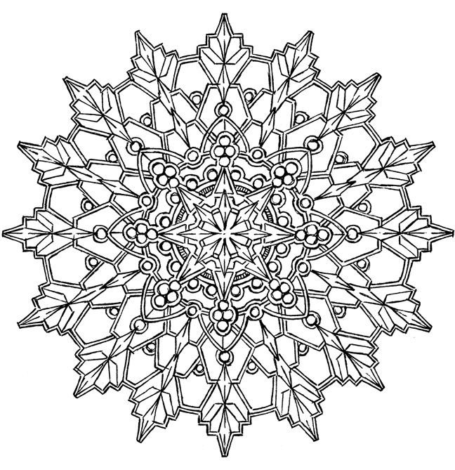 Adult Snowflake Coloring Page coloring page & book for kids.