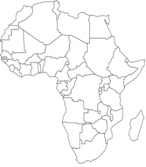 Africa Map Coloring Page Coloring Pages