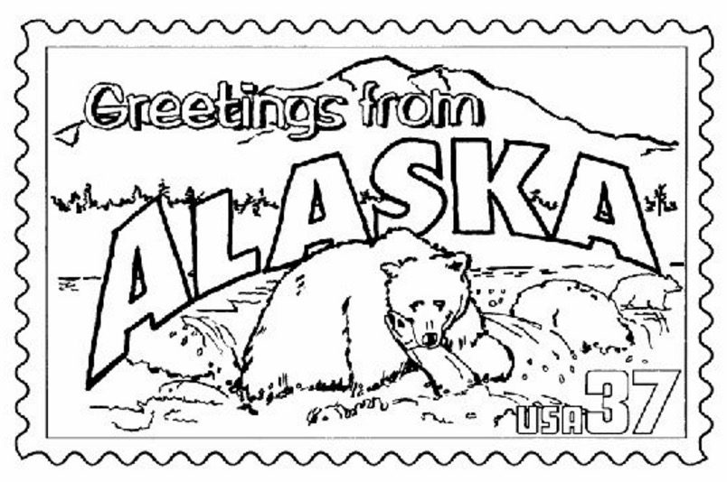 Alaska Fishing Coloring Page coloring