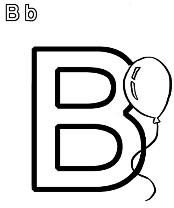 B Coloring Page Book