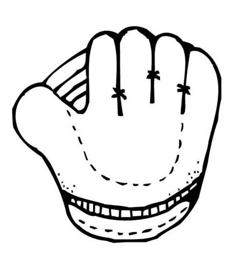 Baseball Glove Coloring Page coloring page & book for kids.