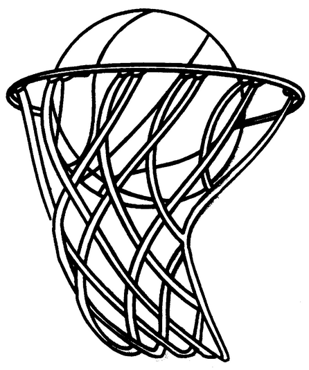 Basketball Hoop coloring page & book for kids.