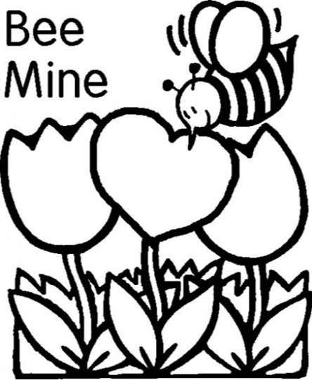 Be Mine Printable Valentine Card Coloring Page Book For Kids