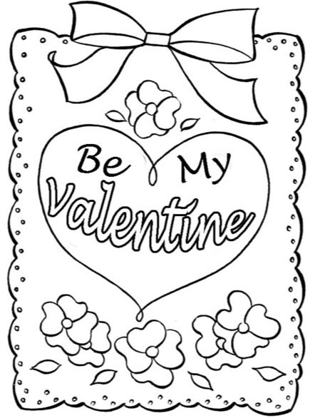 Be My Valentine Heart Coloring