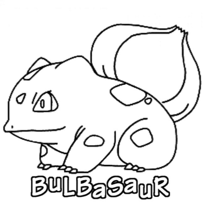 Bulbasaur Coloring Page Coloring Page Book For Kids