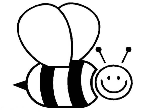 Realistic Image of Busy Bumblebee Coloring Page - Download & Print ... | 448x578