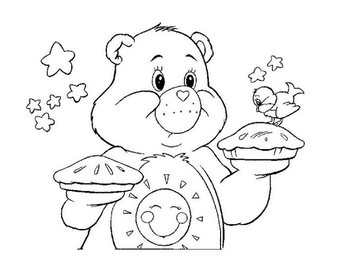 Care Bears Coloring Page Coloring Page Amp Book For Kids